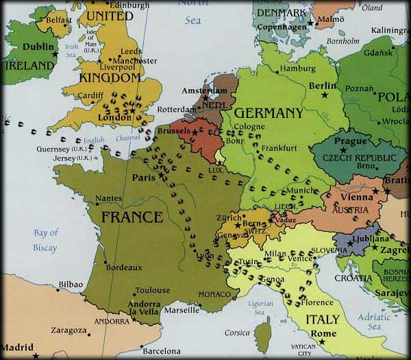 Where in the world european map with trotters gumiabroncs Gallery